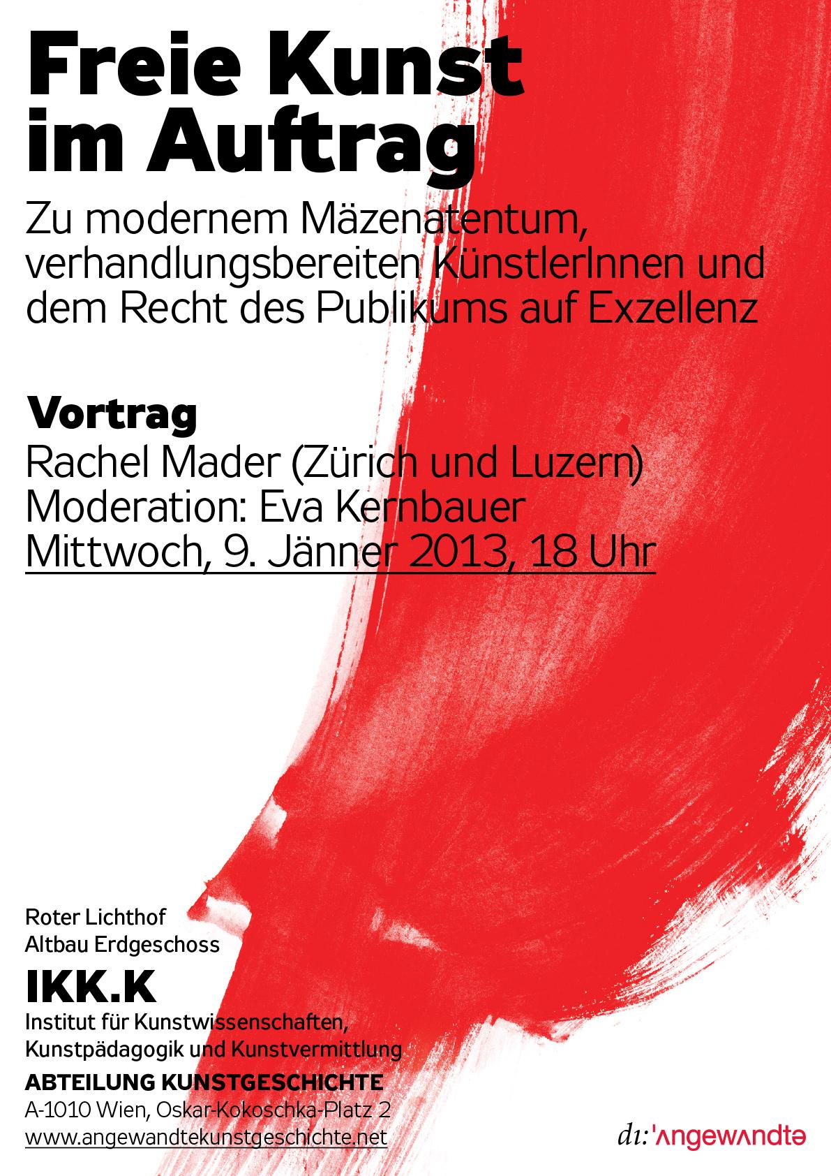 130109 Rachel Mader Gv Plakat