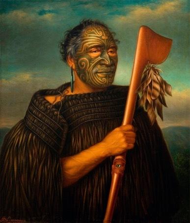 Maori-Gesichtstätowierungen_Tamati waka nene