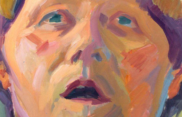 Maria Lassnig, Selbstportrait als Blondine Detail