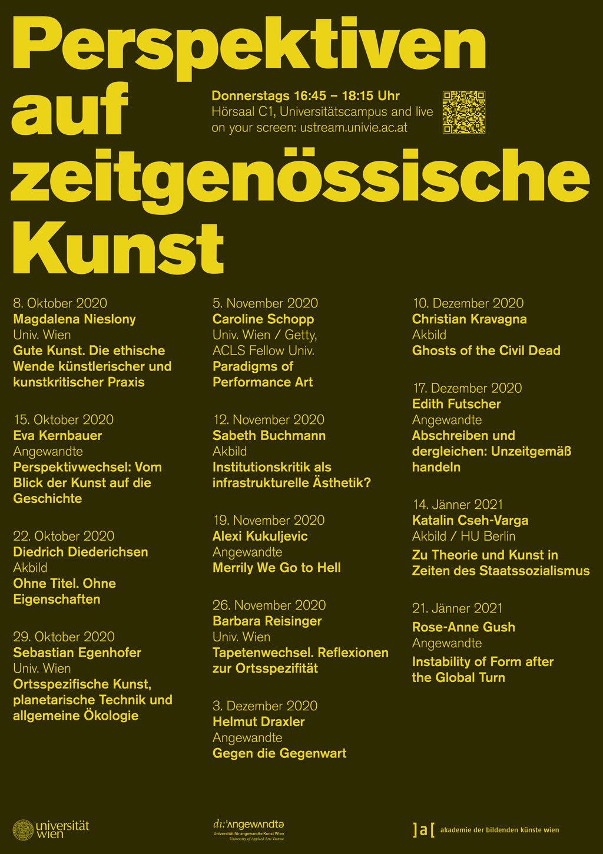 Plakat Perspektiven auf zeitgenössische Kunst